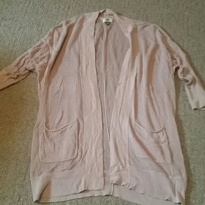Old Navy open knit blush half sleeve cardigan M